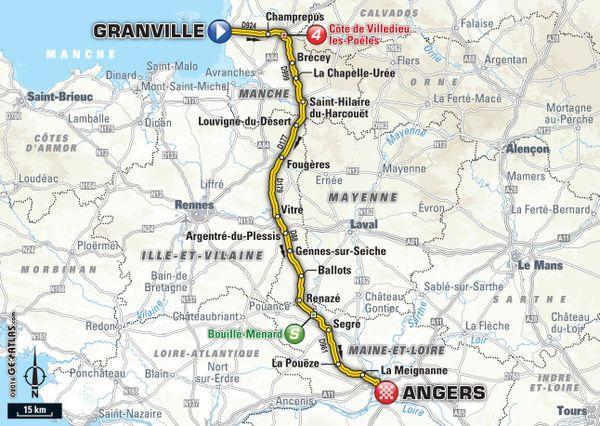 Tour de France Etape 3 Granville Angers  - lundi 4 juillet 2016 (cliquez sur l'image pour l'agrandir)