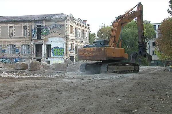 Le chantier du futur conservatoire de musique de Montpellier, sur le site de l'ancienne maternité Grasset