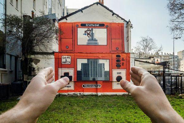 """""""Ninterdartup"""" est une fresque réalisée dans le quartier des gratte-ciel de Villeurbanne."""