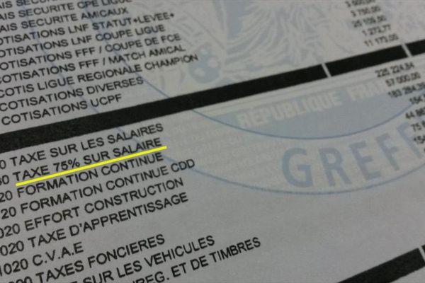 Extrait des comptes du RC Lens au 30 juin 2014.