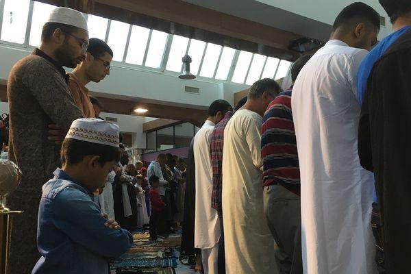 La prière de l'Aïd al-Adha 2018 à Mulhouse.