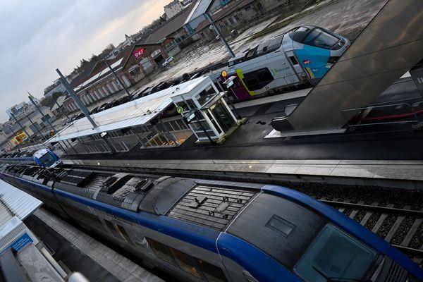 Des trains régionaux à quai, à Rennes - Photo d'illustration