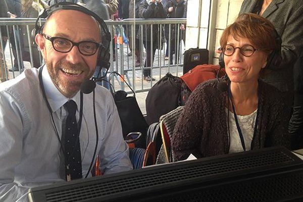 Lancement de la retransmission en direct live de la vente des vins des Hospices de Beaune par Lilian Melet et Muriel Bessard