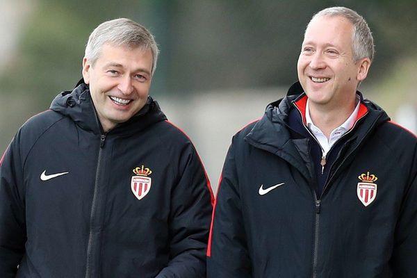 Le Président Dmitri Rybolovlev et le Vice-Président Vadim Vasyliev de l'AS-Monaco ont assisté à l'entraînement des joueurs ce jeudi 29 mars.