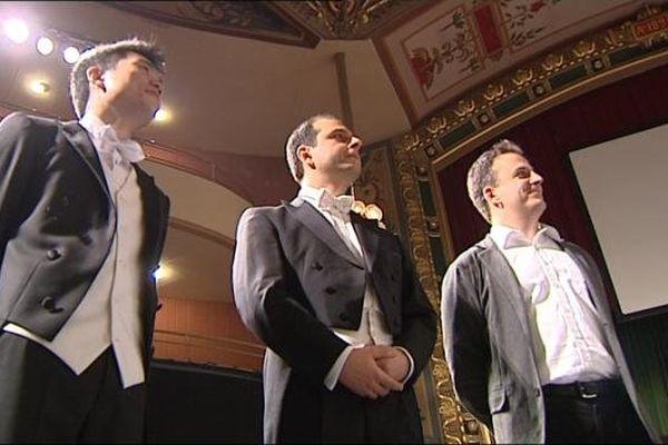 Les trois finalistes du 53 eme concours des jeunes chefs d'orchestre de Besançon