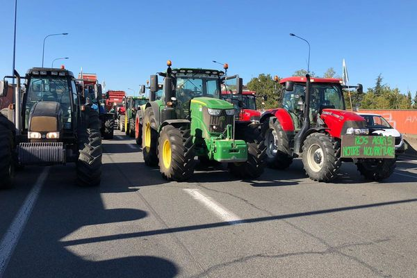 Le 8 octobre dernier, les agriculteurs ont installé leurs tracteurs sur la rocade de Toulouse.