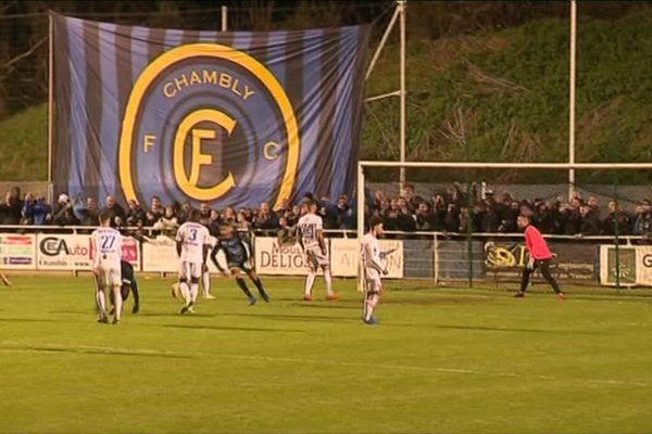 Le FC Chambly lors d'un match face à Marignane le 12 avril.