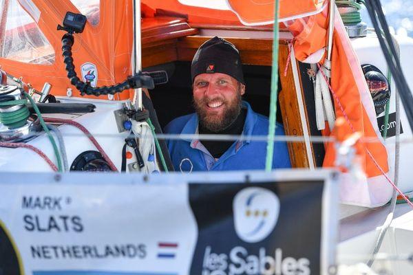 Mark Slats, concurrent néerlandais de la Golden Globe Race, lors de son passage en Tasmanie en octobre 2018
