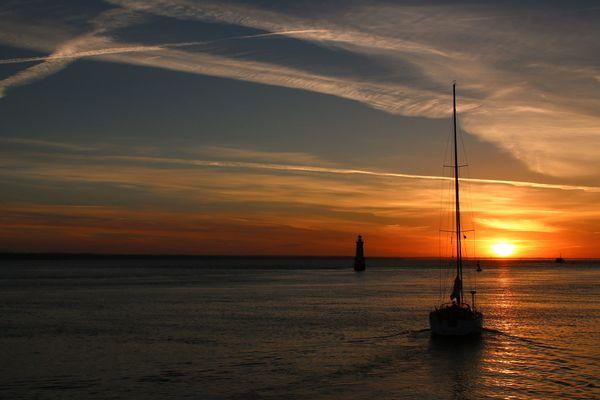 petit matin à Loctudy. Beau temps, belle mer.