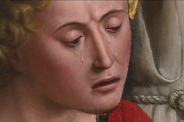 Grâce à la restauration, les détails de cette toile, comme des larmes, sont à nouveau visibles