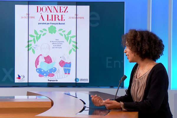 Maya Flandin libraire lyonnaise lance la 6e édition de l'opérions Donnez à lire dans Entre deux le 21 octobre 2021