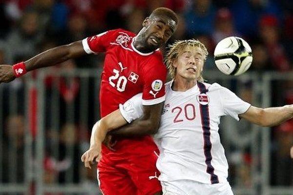 Soderlund, à droite, sous le maillot norvégien.