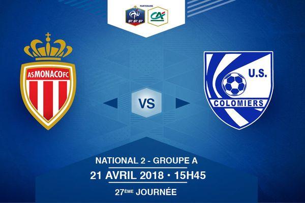 Suivez en live la rencontre de Football opposant AS Monaco 2 et US Colomiers. Ce match se déroule ce samedi à 15h45