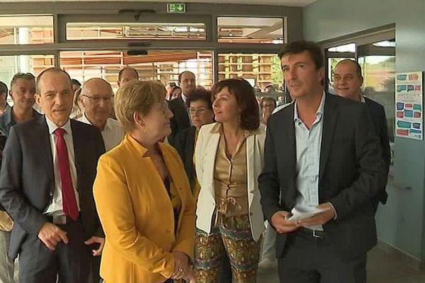 Bédarieux (Hérault) - inauguration du lycée Fernand Léger - 6 septembre 2018.