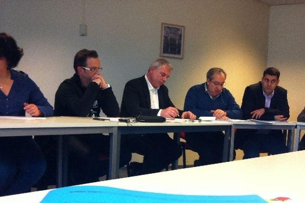 Mickaël Wamen aux côtés des dirigeants nationaux de la CGT cet après-midi au siège de Montreuil