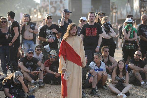 Un Christ fan de Metal au Hellfest l'année dernière à Clisson