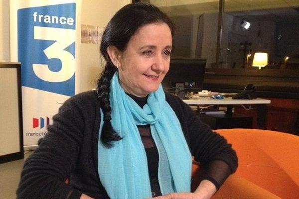 Elisabeth Belaubre durant le vidéo-chat
