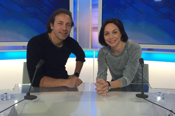 Nathalie Péchalat et Philippe Candeloro sur notre plateau.