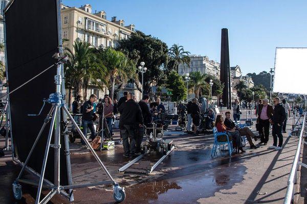 """Tournage à Nice de la série """"un crime parfait"""" diffusé sur France 3."""