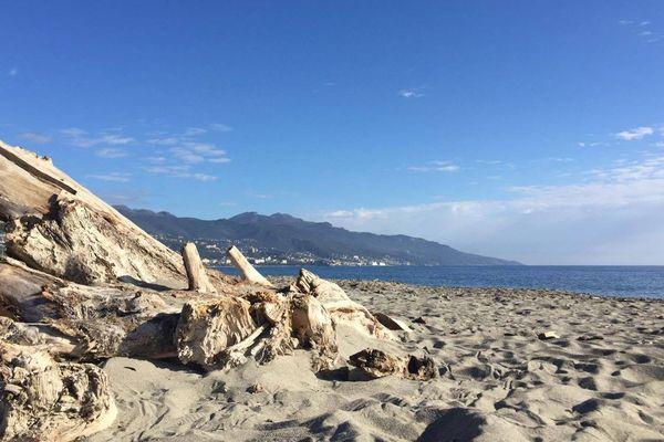 Plage de la Marana près de Bastia