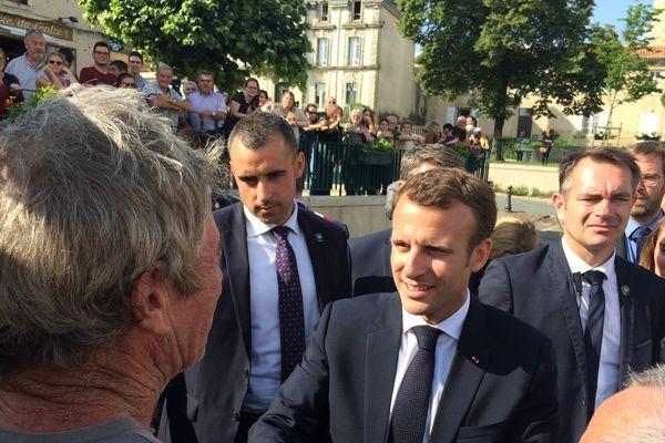 Emmanuel Macron en déplacement à Laval, le 3 septembre 2018