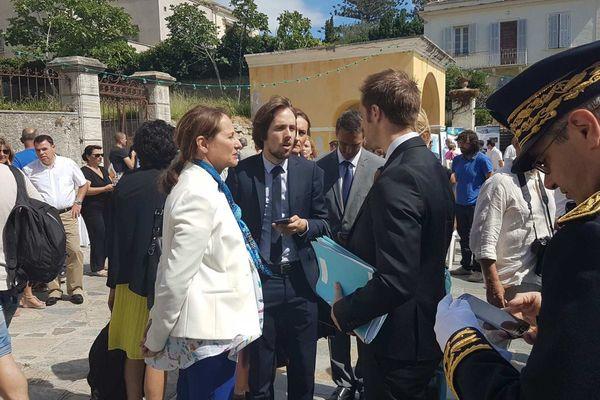 15/07/16 - La Ministre de l'Écologie, du Développement durable et de l'Énergie Ségolène Royal lors de sa visite en Corse.