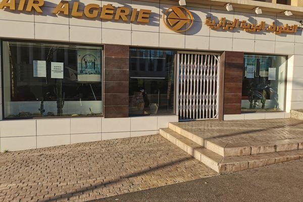 Les bureaux de la compagnie aérienne Air Algérie à Marseille, fermés mardi 26 janvier 2021