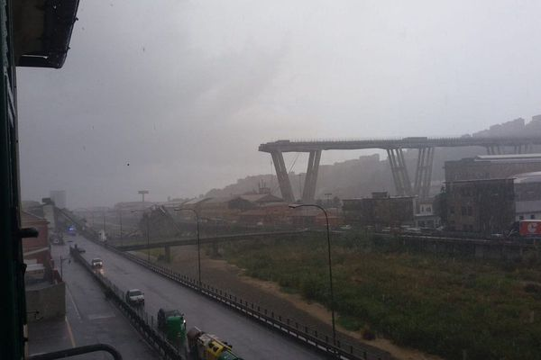 Un viaduc de l'autoroute A10 s'est effondré à Gênes ce mardi 14 août.