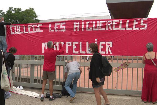 Au collège des Aiguerelles à Montpellier, la mobilisation se poursuit - 13 septembre 2021