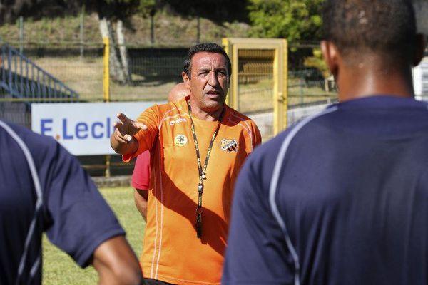 L'AS Excelsior, le 28 décembre à l'entraînement, sur l'île de la Réunion.