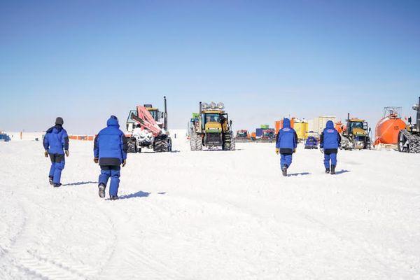 A la station Concordia de l'Institut polaire français en Antarctique