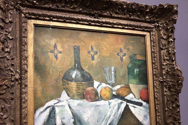 Paul Cézanne,(1839-1906), fiasque, verre et poterie , vers 1877