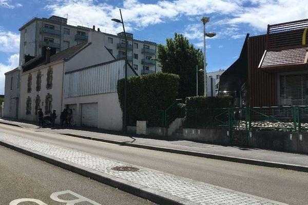 La rue de Keryado à Lorient où s'est produit le drame