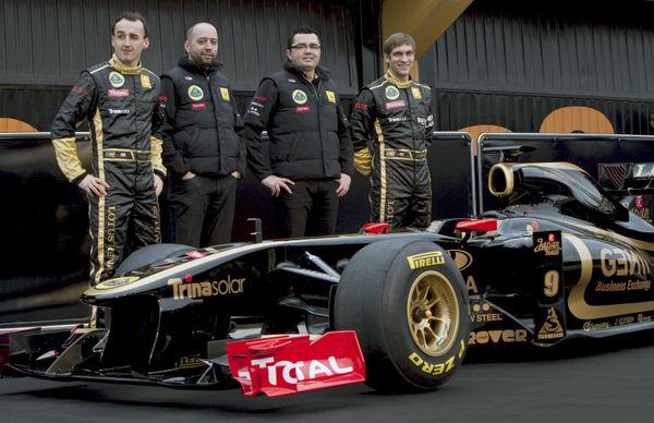 Présentation de l'équipe Renault / Lotus en 2011.