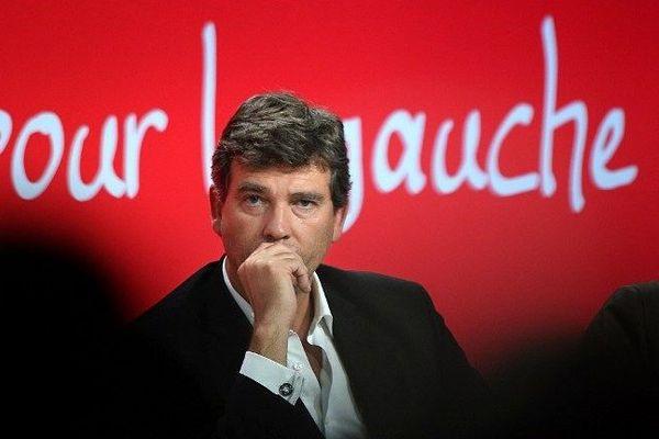 Arnaud Montebourg à l'université d'été du Parti socialiste à La Rochelle le 30 août 2014
