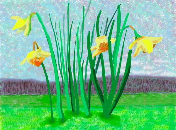 """""""Do remember they can't cancel the spring"""", David Hockney (2020)"""