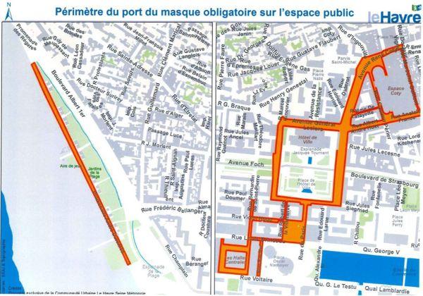 Port du masque au Havre