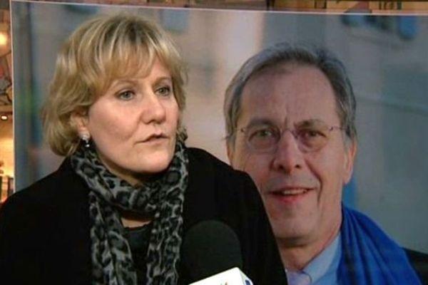 Nadine Morano apporte son soutien à Philippe Cordier, candidat UMP aux municipales à Nevers