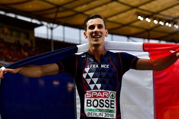Pierre-Ambroise Bosse, après la finale du 800 m hommes des Championnats européens d'athlétisme, le 11 août à Berlin.