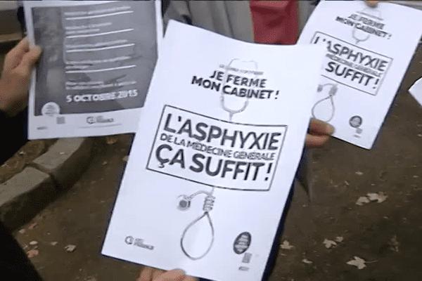 5/10/15 - Les médecins généralistes ferment leurs cabinets pour dire non contre au projet de loi Santé de Marisol Touraine