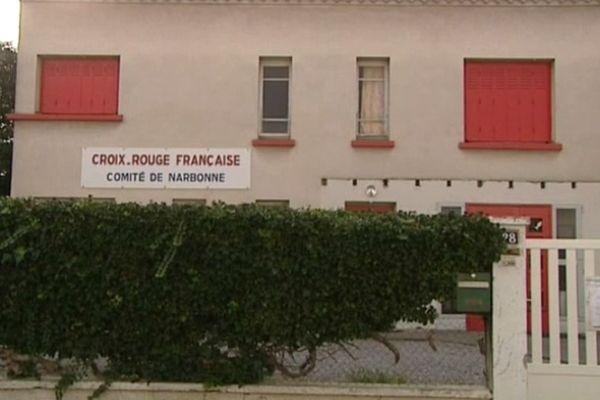 Le local de La Croix Rouge à Narbonne est fermé.