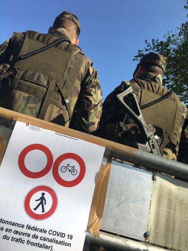 des gardes-frontière suisse-allemand