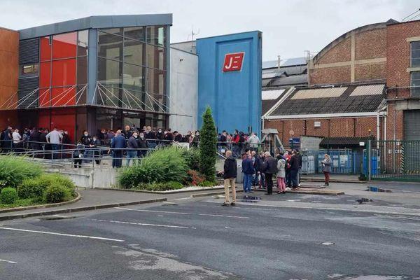 Les ouvriers de Jeumont Electric en grève.