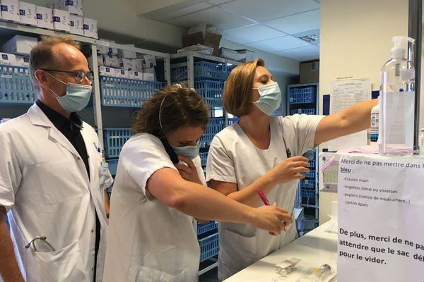 Pierre Tattevin, dans son service d'infectiologie du CHU de Rennes