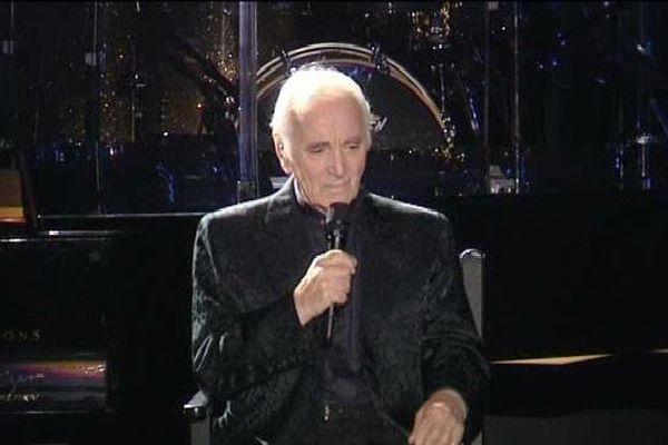Charles Aznavour, vendredi soir, à la 68è Foire aux Vins de Colmar