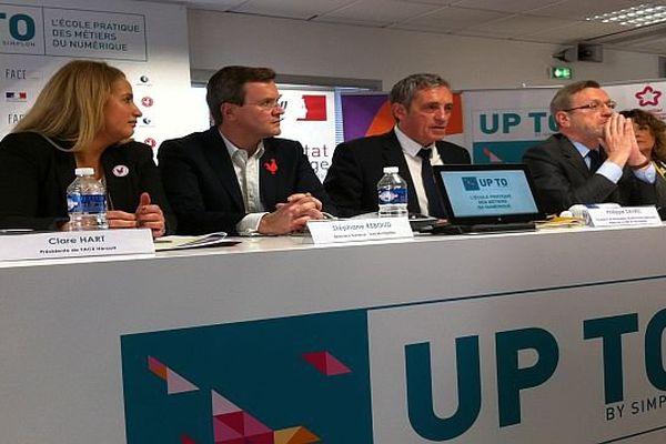 Montpellier - inauguration de l'école du numérique Up To- 4 février 2016.