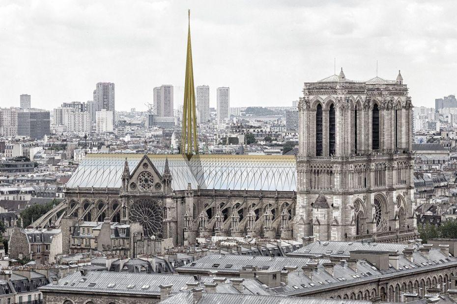 """Flèche de Notre-Dame : un """"non-sens"""" pour l'architecte dijonnais Paul Godart"""