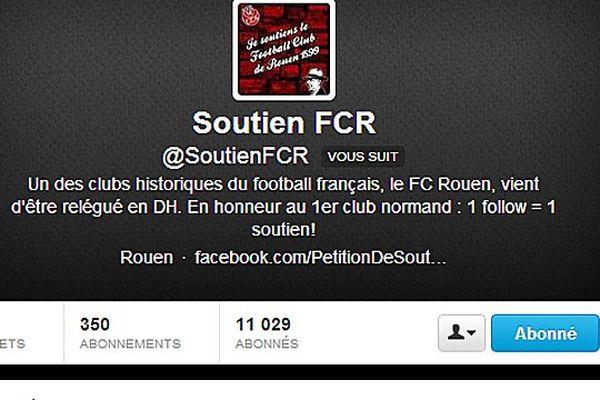 Le compte twitter du FCR est passé en quelques heures de 900 fans à plus de 10.000...
