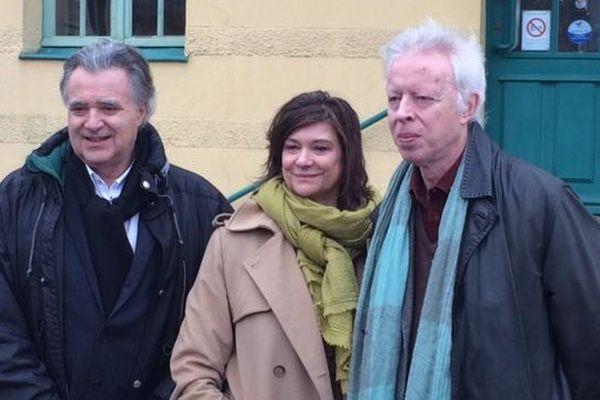 Philippe Leguay (à droite sur la photo) a passé ses vacances, enfant dans l'Orne. Jean Jacques Albert (directeur de production à gauche) et Anne Dominique Toussaint (productrice au centre)