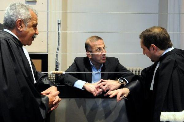 Mars 2013 - Jacques Mariani lors de son procès devant la cour d'appel d'Aix en Provence pour avoir organisé un racket depuis sa cellule